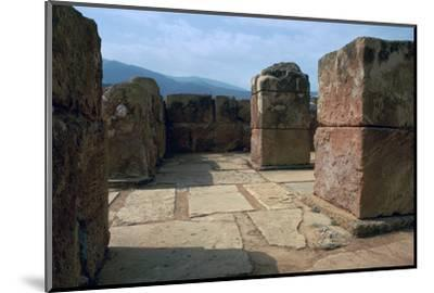 Pillar-crypt of the Minoan Royal palace at Mallia, Bronze Age-Unknown-Mounted Photographic Print