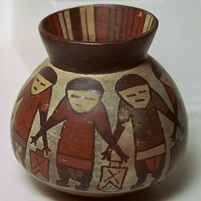 Nazca painted pottery vessel, 1st century-Unknown-Framed Giclee Print