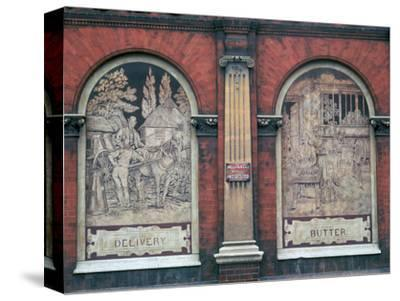 Facade of 19th century dairy-Unknown-Stretched Canvas Print