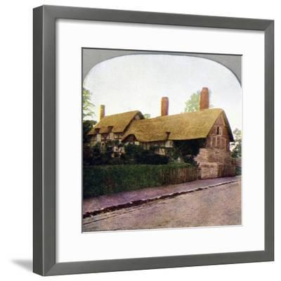 Ann Hathaway's cottage, Stratford-upon-Avon, Warwickshire, early 20th century. Artist: Unknown-Unknown-Framed Giclee Print