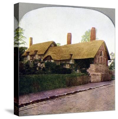 Ann Hathaway's cottage, Stratford-upon-Avon, Warwickshire, early 20th century. Artist: Unknown-Unknown-Stretched Canvas Print