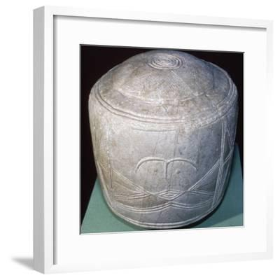 The Folkton Drums, found in East Yorkshire, England, Late Neolithic period, 2600-2000 BC-Unknown-Framed Giclee Print