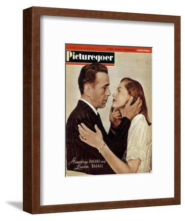 Humphrey Bogart (1899-1957) and Lauren Bacall (b1924), American actors, 1946. Artist: Unknown-Unknown-Framed Photographic Print