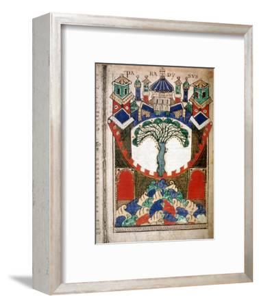 Paradise, a page from Liber Floridus, 12th century. Artist: Unknown-Unknown-Framed Giclee Print