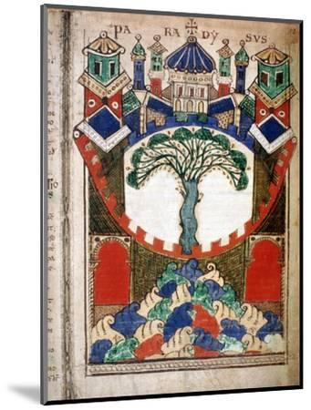 Paradise, a page from Liber Floridus, 12th century. Artist: Unknown-Unknown-Mounted Giclee Print