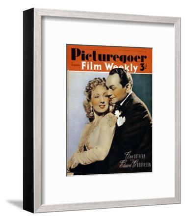 Ann Sothern (1909-2001) and Edward G. Robinson ( 1893-1964), actors, 1940. Artist: Unknown-Unknown-Framed Photographic Print