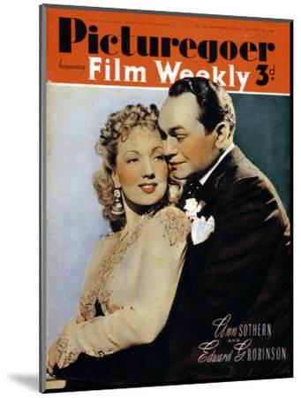 Ann Sothern (1909-2001) and Edward G. Robinson ( 1893-1964), actors, 1940. Artist: Unknown-Unknown-Mounted Photographic Print