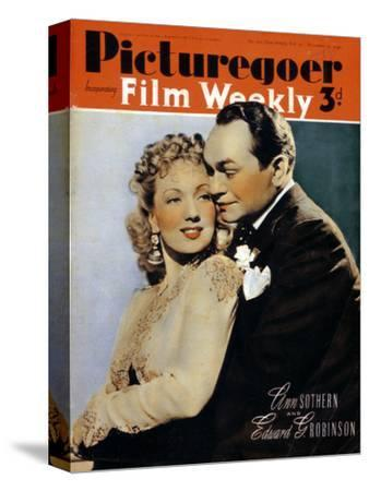 Ann Sothern (1909-2001) and Edward G. Robinson ( 1893-1964), actors, 1940. Artist: Unknown-Unknown-Stretched Canvas Print