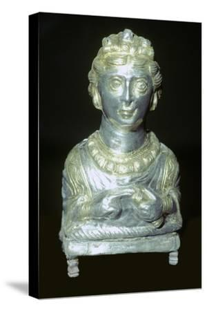 'Empress' pepper pot from the Hoxne hoard, Roman Britain, buried in the 5th century-Unknown-Stretched Canvas Print