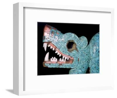 Detail of a turquoise mosaic of a double-headed serpent, Aztec/Mixtec, Mexico, 15th-16th century-Unknown-Framed Giclee Print