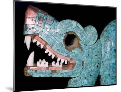 Detail of a turquoise mosaic of a double-headed serpent, Aztec/Mixtec, Mexico, 15th-16th century-Unknown-Mounted Giclee Print