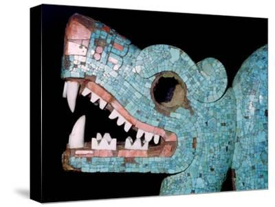 Detail of a turquoise mosaic of a double-headed serpent, Aztec/Mixtec, Mexico, 15th-16th century-Unknown-Stretched Canvas Print