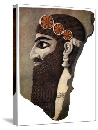 The head of an Assyrian priest or winged divinity, 1933-1934. Artist: Unknown-Unknown-Stretched Canvas Print