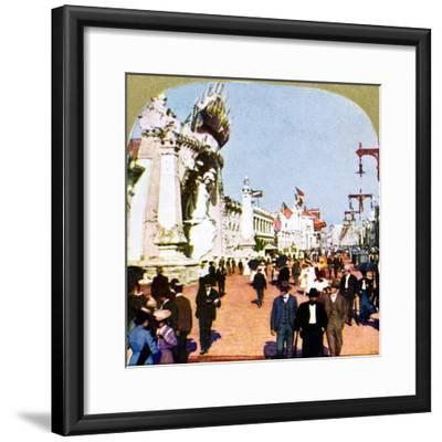General view of the Pike at the World Fair, St Louis, Missouri, USA, 1904. Artist: Unknown-Unknown-Framed Giclee Print