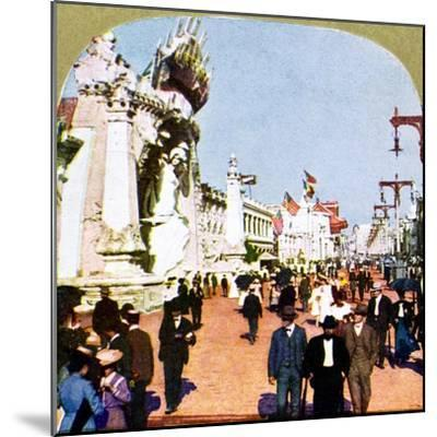 General view of the Pike at the World Fair, St Louis, Missouri, USA, 1904. Artist: Unknown-Unknown-Mounted Giclee Print