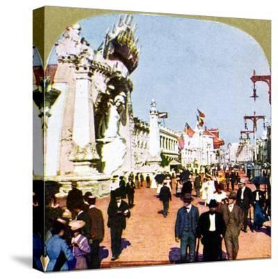 General view of the Pike at the World Fair, St Louis, Missouri, USA, 1904. Artist: Unknown-Unknown-Stretched Canvas Print