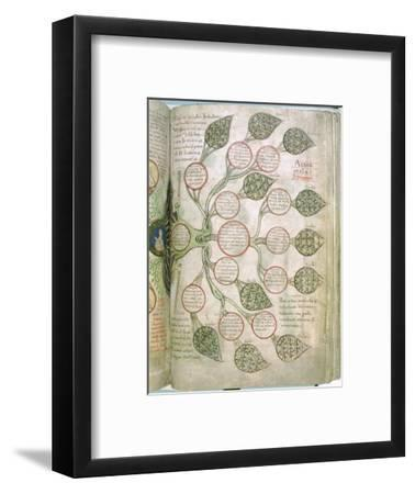 A page from Liber Floridus, 12th century. Artist: Unknown-Unknown-Framed Giclee Print