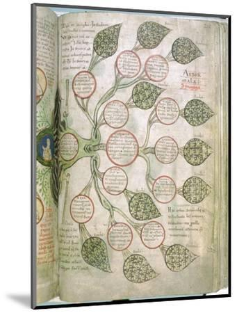 A page from Liber Floridus, 12th century. Artist: Unknown-Unknown-Mounted Giclee Print