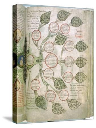 A page from Liber Floridus, 12th century. Artist: Unknown-Unknown-Stretched Canvas Print