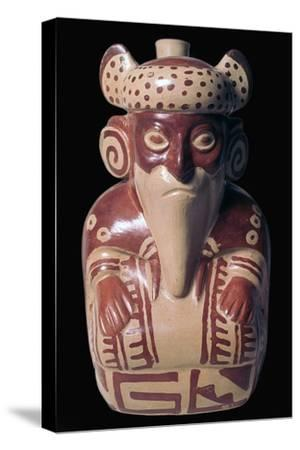 Mochica pottery sculpture of Viracocha. Artist: Unknown-Unknown-Stretched Canvas Print