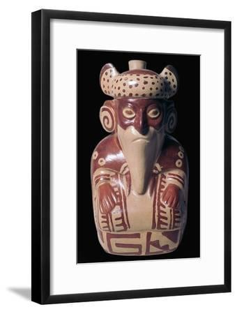 Mochica pottery sculpture of Viracocha. Artist: Unknown-Unknown-Framed Giclee Print