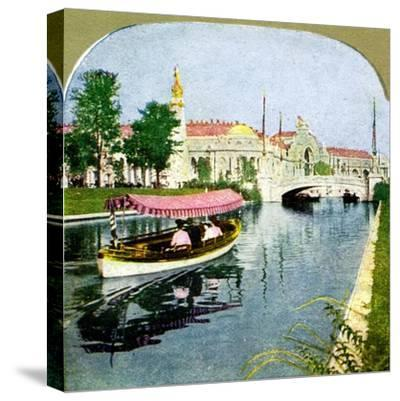The West Lagoon from the World Fair, St Louis, Missouri, 1904. Artist: Unknown-Unknown-Stretched Canvas Print