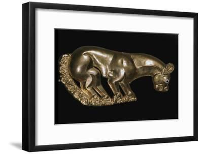 Scythian gold plaque from a shield or breastplate depicting a panther, 6th century BC-Unknown-Framed Giclee Print