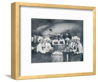 Some of the cooks preparing the soup at the Messagerie Van Gand, c1914-Unknown-Framed Photographic Print