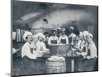 Some of the cooks preparing the soup at the Messagerie Van Gand, c1914-Unknown-Mounted Photographic Print