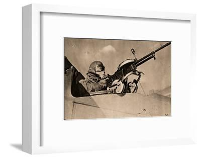 Firing Practice at Drogue Towed Target, 1940-Unknown-Framed Photographic Print