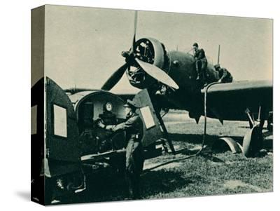 Refuelling a Wellesley Bomber, 1940-Unknown-Stretched Canvas Print