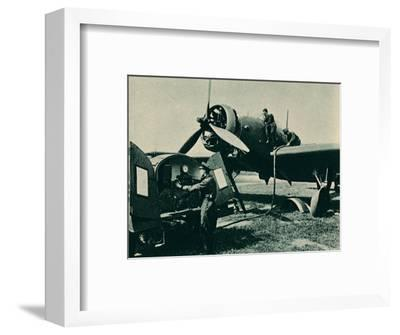 Refuelling a Wellesley Bomber, 1940-Unknown-Framed Photographic Print