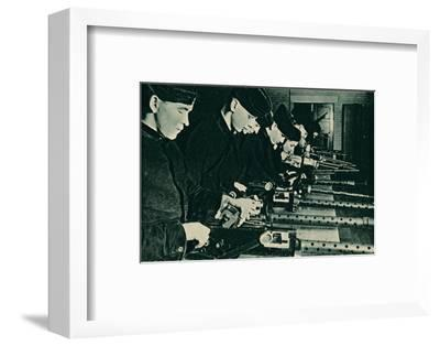 Armourers Assembling Aerial Guns, 1940-Unknown-Framed Photographic Print
