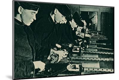 Armourers Assembling Aerial Guns, 1940-Unknown-Mounted Photographic Print