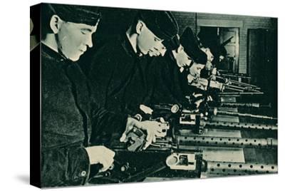 Armourers Assembling Aerial Guns, 1940-Unknown-Stretched Canvas Print