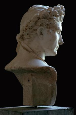 Bust of the Roman emperor Augustus, 1st century. Artist: Unknown-Unknown-Framed Giclee Print