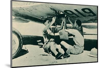 Armament Section at Work, 1940-Unknown-Mounted Photographic Print