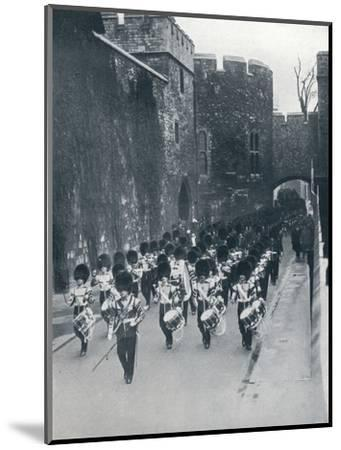 The Guards leaving the Tower of London, c1914-Unknown-Mounted Photographic Print
