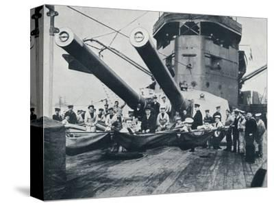 The big guns of HMS New Zealand, c1914-Unknown-Stretched Canvas Print