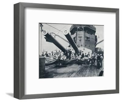 The big guns of HMS New Zealand, c1914-Unknown-Framed Photographic Print