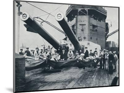 The big guns of HMS New Zealand, c1914-Unknown-Mounted Photographic Print