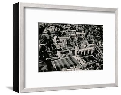 Aerial view of Cambridge, 1939-Unknown-Framed Photographic Print