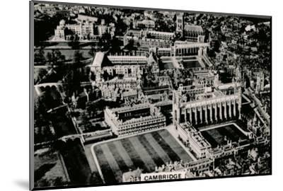 Aerial view of Cambridge, 1939-Unknown-Mounted Photographic Print