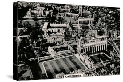 Aerial view of Cambridge, 1939-Unknown-Stretched Canvas Print