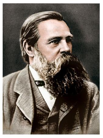 Friedrich Engels, German socialist and collaborator and supporter of Karl Marx, 1879-Unknown-Framed Photographic Print