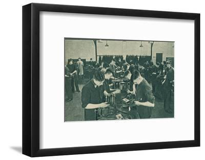 Wirless Operator Mechanics' Workshop, 1940-Unknown-Framed Photographic Print