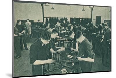 Wirless Operator Mechanics' Workshop, 1940-Unknown-Mounted Photographic Print