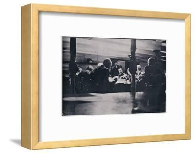 The scene on the Victory during the court-martial, 1906-Unknown-Framed Photographic Print