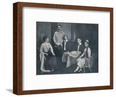 Murdered Archduke Francis Ferdinand with his wife and children, c1910-Unknown-Framed Photographic Print