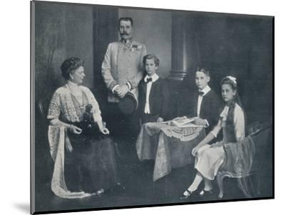 Murdered Archduke Francis Ferdinand with his wife and children, c1910-Unknown-Mounted Photographic Print